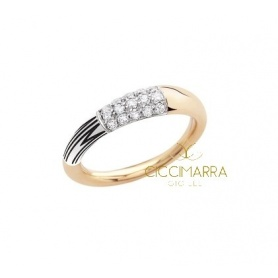 Small gold Mimì Tam Tam ring with diamonds