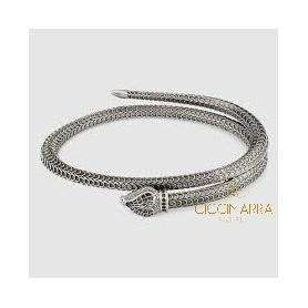 Bracciale Gucci Garden in argento a serpente