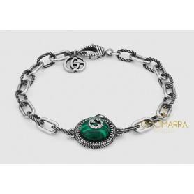 Gucci Garden Armband aus Silber und Malachit