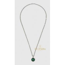 Gucci Garden Halskette für Männer und Frauen Silber und Malachit