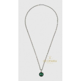 Gucci Garden necklace for men and women silver and malachite
