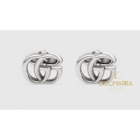 Gucci cufflinks in antique silver double GG