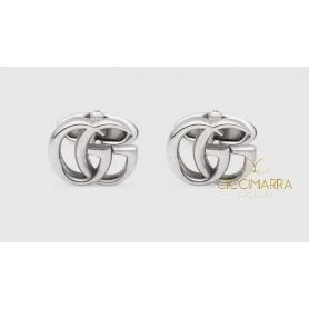 Gucci Manschettenknöpfe in Antik Silber Doppel GG