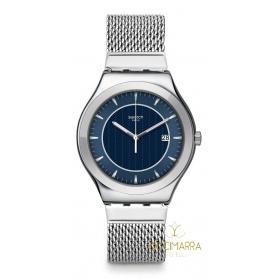 Herren Swatch Uhr Blue Icone - YWS449MA