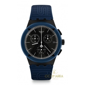 Swatch Herrenuhr X-District Blue - SUSB418