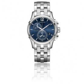 Hamilton JazzMaster Chrono Quartz watch blue - H32612141