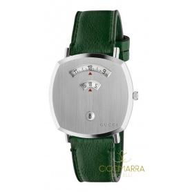 Gucci Grip Herrenuhr grünes Leder - YA157412