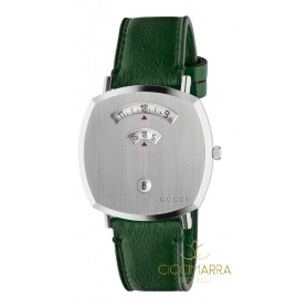 Gucci Grip men's watch green leather - YA157412