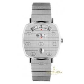 Gucci Grip Damenuhr aus Silber - YA157401