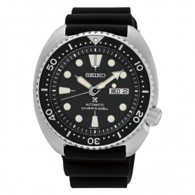 Seiko Prospex watch automatic black silicone SRP777K1