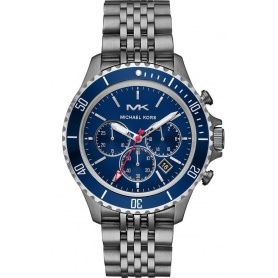 Michael Kors Men's Watch Bayville Blue Chronograph - MK8727