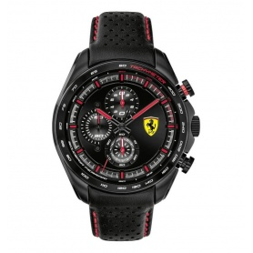 Scuderia Ferrari Speedracer watch leather chronograph - FER0830647