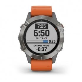 Garmin Fenix6 Pro Sapphire Edition Orange Uhr 0100215814
