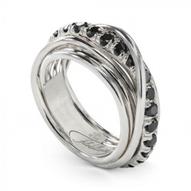 Ring Filoditavita Rock 7fili silver and diamonds - AN9ABN