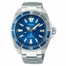 Seiko Prospex samurai automatic blue watch SRPD23K1