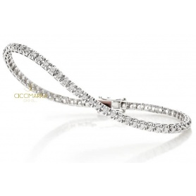 Bracciale Tennis Crieri Victoria in oro e diamanti ct0.52