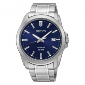 Seiko watch man woman silver blue - SGEH47P1
