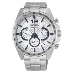 Seiko Uhr männlich Chronograph Silber - SSB343P1