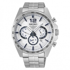 Seiko watch male chronograph silver - SSB343P1