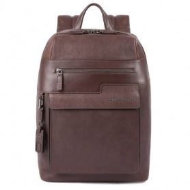 Piquadro medium Wostok brown backpack - CA4115W95 / TM