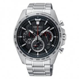 Seiko watch male chronograph black - SSB299P1