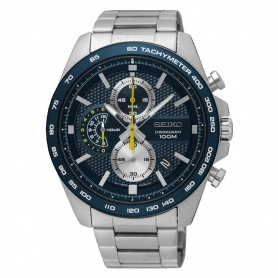 Seiko watch male chronograph black - SSB259P1