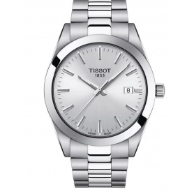 Gentlemen silver Tissot men's watch - T1274101103100