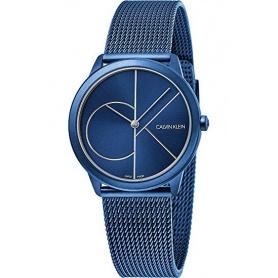 Orologio CK Minimal Acciaio maglia milanese BLU - K3M52T5N
