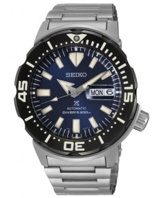 Automatic diver's watch Seiko Prospex Monster steel blue dial
