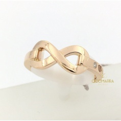 Salvini Infinito ring in rose gold with brilliants 20085532