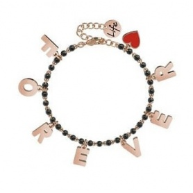 Bracciale Kidult Forever Charms acciaio rosè - 731590