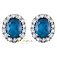 Orecchini Salvini a lobo con diamanti e zaffiri blu 20057650