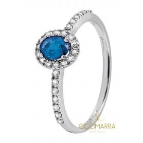Kleiner Salvini Dora Ring mit blauen und brillanten Saphiren