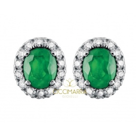Salvini Dora earrings with diamonds and Emeralds 20057650