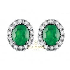 Orecchini Salvini Dora con diamanti e Smeraldi 20057650