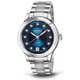Eberhard Aiglon Dame Blue Watch with Diamonds 410355SQB