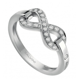 Salvini Infinito ring in white gold with brilliants 20085534