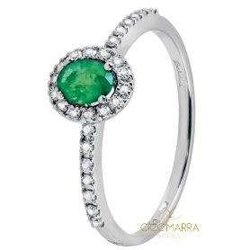 Salvini Dora small ring with emerald and diamonds