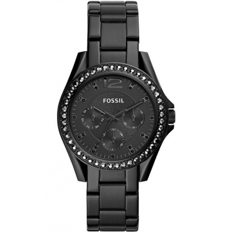 Black multifunction Riley Fossil watch - ES4519