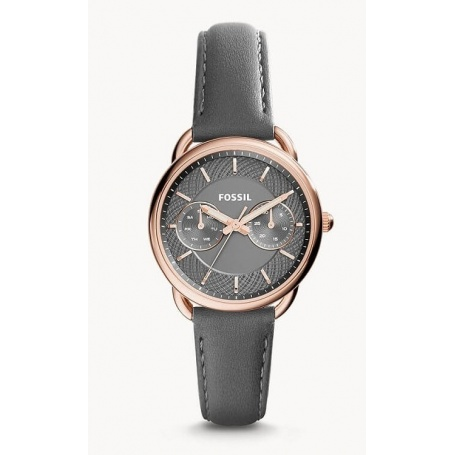 Fossil Tailor multifunction watch gray leather - ES3913