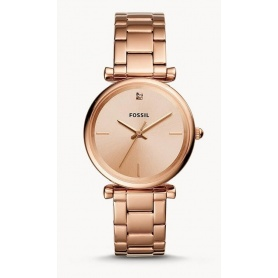 Carlie Carbon Fossil watch woman pink gold - ES4441