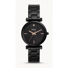 Carlie Carbon Fossil Uhr Frau schwarz - ES4442