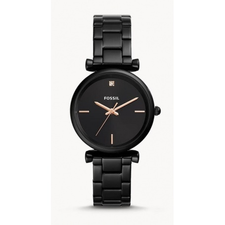 Carlie Carbon Fossil watch woman black - ES4442