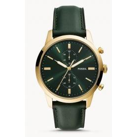 Cronografo Townsman Fossil pelle verde - FS5599
