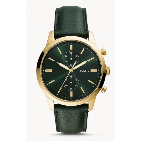 Townsman Fossil chronograph green leather - FS5599