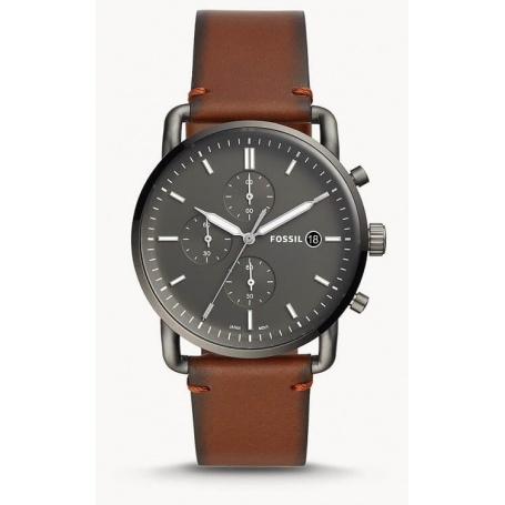The Commuter Fossil men's chronograph amber leather - FS5523