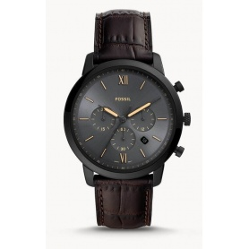 Herren Neutral Fossil Chronograph Brown Leather - FS5579