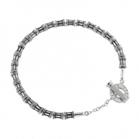 Bracciale Colonne Ellius in argento con T-Bar - 8000100007215(C)