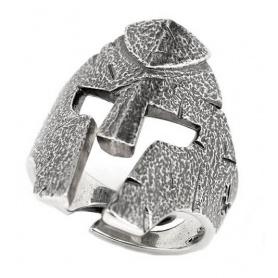 Alter silberner Ellius Combat Helmet Ring