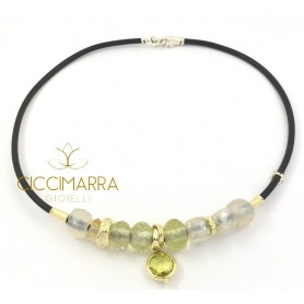 Misani Matera collection necklace with Moonstone and Lemon Quartz